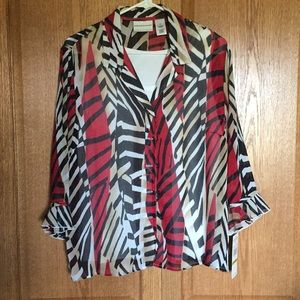 Alfred Dunner blouse with shell